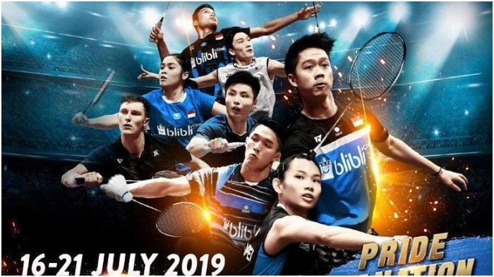 Jelang Indonesia Open 2019: Update Jadwal Laga dan Live di Trans7, Babak Final Mulai Pukul 14.00 WIB