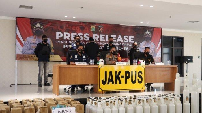 Polisi Bekuk Sindikat Penjual Tabung Oksigen dan Regulator dengan Harga Dua Kali Lipat di Jakarta