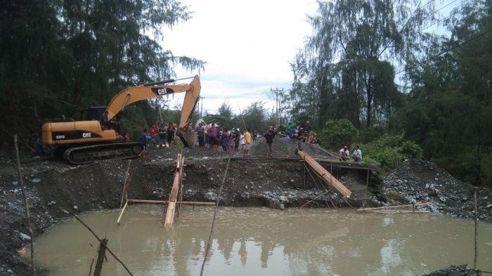 Akibat Hujan dengan Intensitas Tinggi, Jalan Trans Sulawesi di Banggai Putus Total