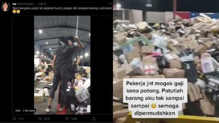 Viral Video Kurir J&T Malaysia Berteriak dan Telantarkan Tumpukan Paket, Diduga karena Gaji Dipotong
