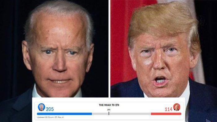 UPDATE Pilpres AS 2020: Pukul 12.00 WIB, Biden ungguli Trump 205-114