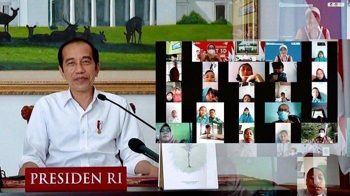 Peringati Hari Anak Secara Daring, Jokowi Ditanya Murid SD: Jadi Presiden Ngapain Aja?
