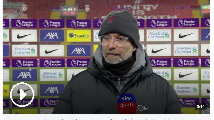 Dihajar Manchester City, Klopp Revisi Target Liverpool Musim Ini Jadi 4 Besar Saja