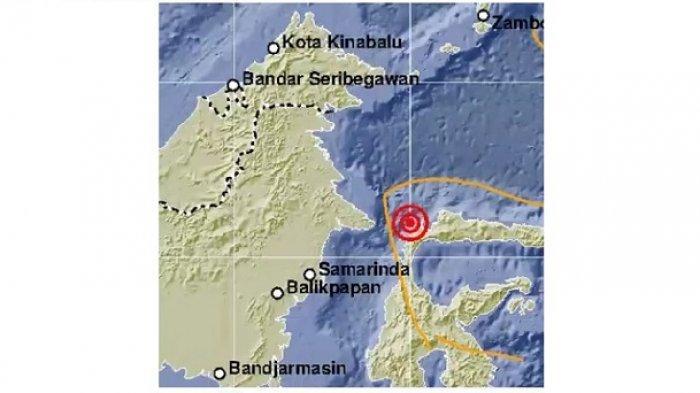 Kabupaten Tolitoli diguncang gempa 4,4 Magnitudo pukul 14.17 WITA.