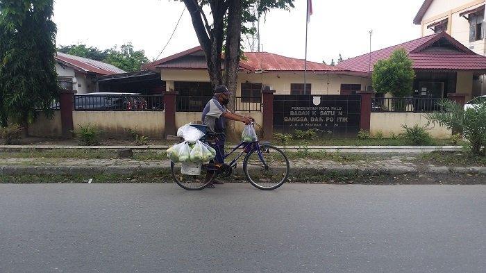Kakek 70 Tahun Asal Loli Donggala Ini Keliling Kota Palu Jajakan Buah Mangga