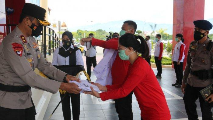 60 Relawan Vaksinasi Presisi Dilantik, Bantu Polda Sulteng Tekan Penyeberaan Covid-19
