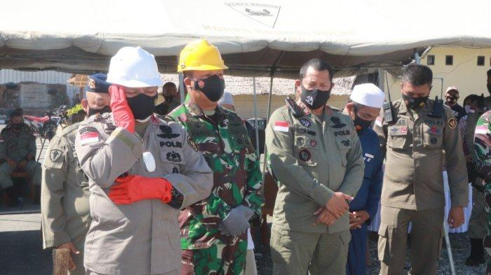 Kapolda Sulteng Kumandangkan Azan di Awal Pembangunan Masjid Al Hidayah Tokorondo