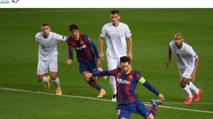 Hasil Liga Spanyol: Messi Cetak Dua Gol, Barcelona Pangkas Poin dengan Atletico Madrid