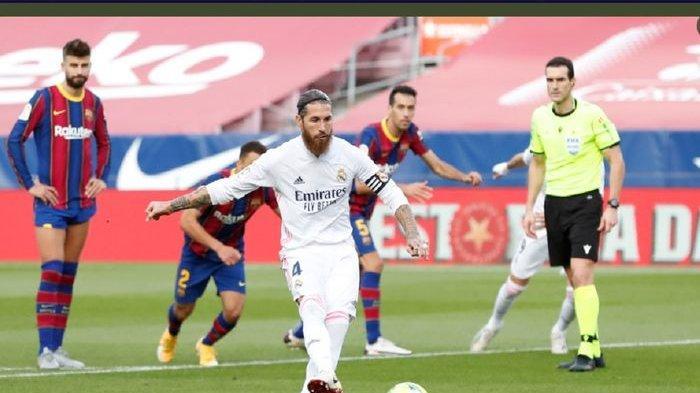 Hasil El Clasico - Sergio Ramos Tampil Apik, Real Madrid Permalukan Barcelona di Kandang Sendiri