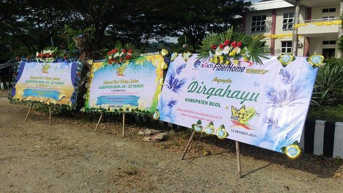 HUT Kabupaten Buol ke-22, Hanya Ada 6 Karangan Bunga