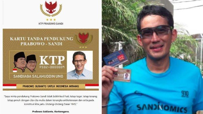 Pendukung Buat KTP Prabowo-Sandi Tanpa Izin, Waketum Gerindra Ancam Pembuat Akan Bawa ke Jalur Hukum