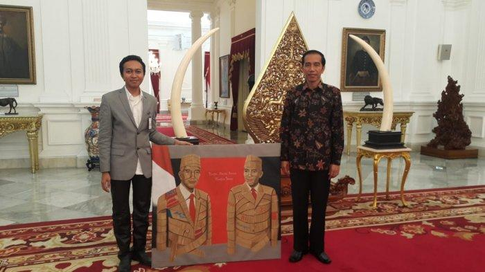 Profil Sosok Febriandi, Pelukis Manusia Kardus Koleksi Presiden Jokowi dan Menteri Susi