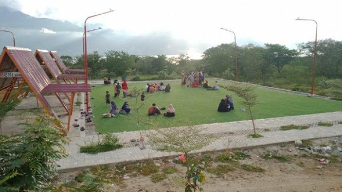Hari Kedua Lebaran, Kawasan Hutan Kota Palu Ramai Pengunjung