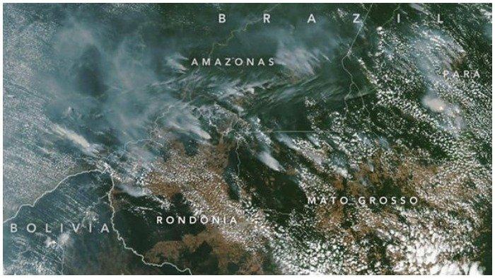 Masifnya Kebakaran Amazon hingga Pecahkan Rekor, Peta Ini Tunjukkan Parahnya Sebaran Titik Api