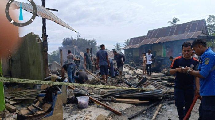 Akibat Korsleting, 7 Rumah Di Tolai Parimo Ludes Terbakar