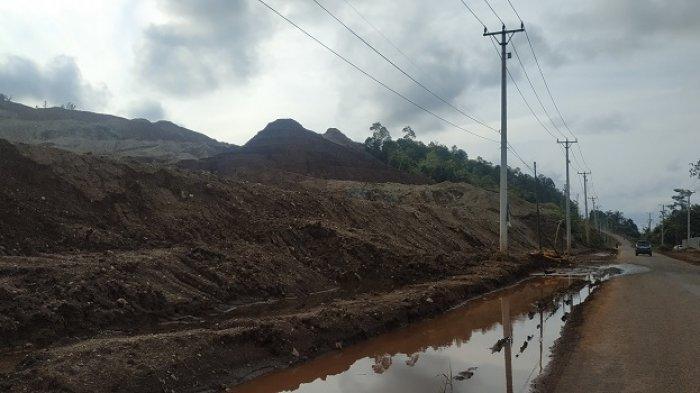 Kawasan tambang di Kecamatan Bahodopi, Kabupaten Morowali, Sulawesi Tengah diabadikan TribunPalu.com, Kamis (8/4/2021).