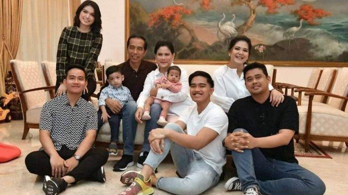 Keluarga Joko Widodo, istri, anak, menantu, dan cucunya.