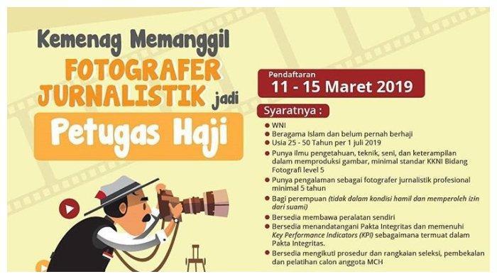 Kemenag Memanggil Fotografer Jurnalistik Jadi Petugas Haji, Pendaftaran hingga 15 Maret 2019