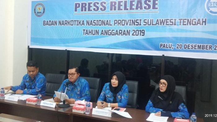 Selama Tahun 2019, BNNP Sulteng Ungkap 49 Kasus dengan 1,3 Kilogram Sabu-sabu