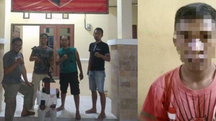 Aksi Pria di Sigi Bobol Kios Pakai Linggis Terekam CCTV, AKhirnya Diciduk Polisi