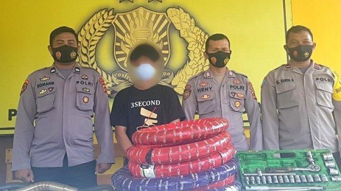 Nekat Gasak Barang Bengkel di Kabupaten Banggai, Warga Morowali Utara Diciduk Polisi