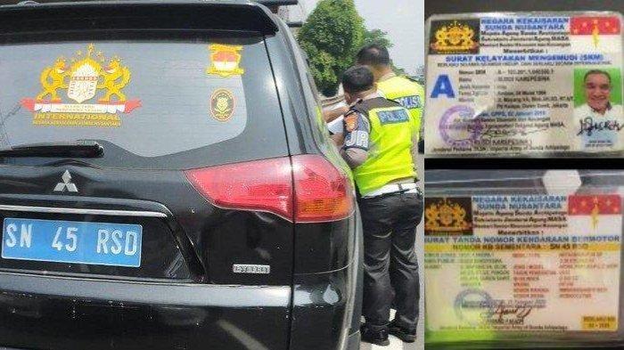 Bawa SIM Aneh saat Ditilang, Pria Ini Ngotot Merasa Tak Bersalah Pasang Plat dari Kerajaan Nusantara
