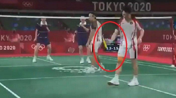 Diwarnai Insiden Banting Raket, Kiprah Marcus/Kevin di Olimpiade Tokyo 2020 Terhenti