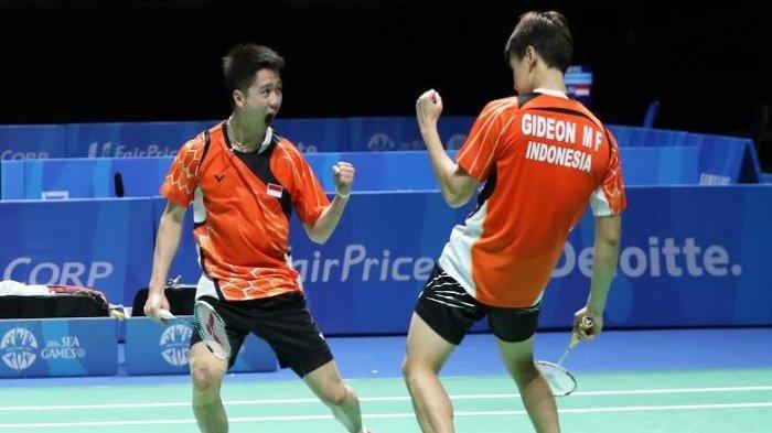 Hasil Badminton Olimpiade Tokyo: Marcus Gideon/Kevin Sanjaya Menang Mudah Atas Wakil Inggris