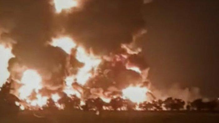 Kondisi Bangunan di Sekitar Lokasi Kejadian Kebakaran Kilang Minyak Balongan