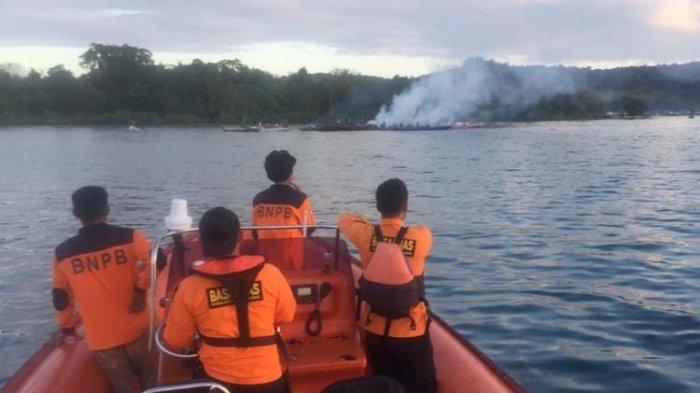 KM Izhar Terbakar, di Perairan Konawe, Sulawesi Tenggara, 7 Penumpang Tewas, 4 Masih Hilang