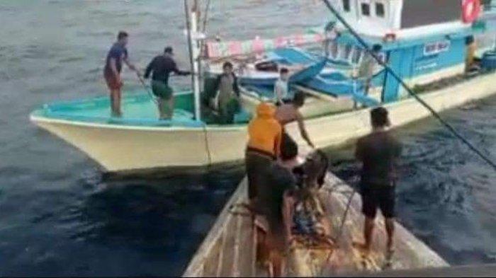 KM Tiga Putri Ditemukan di Perairan Sulawesi Utara, Dievakuasi Pakai Kapal Ikan ke Bitung