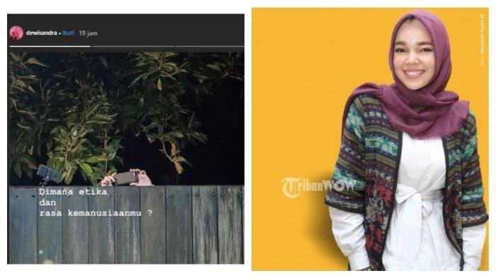 Dewi Sandra Murka saat Lihat Ada Orang yang Diam-diam Ambil Gambar Tahlilan Ashraf: Di Mana Etikamu?