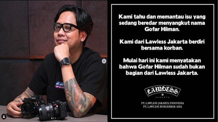 Dituding Lakukan Pelecehan Seksual, Gofar Hilman Didepak dari Lawless Jakarta