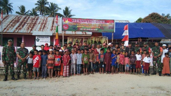 Sambut Hari Juang Kartika TNI AD, Kodim Donggala Gelar Bakti Sosial