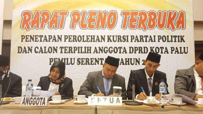 Palu Hari Ini: KPU Umumkan Raihan Kursi Partai Politik di DPRD Palu, Partai Gerindra Paling Banyak