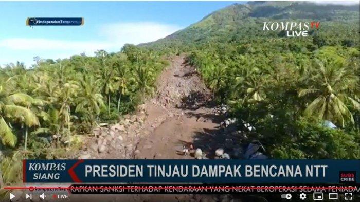 Hari Ini Jokowi Tinjau Lokasi Bencana Banjir Bandang dan Tanah Longsor di NTT