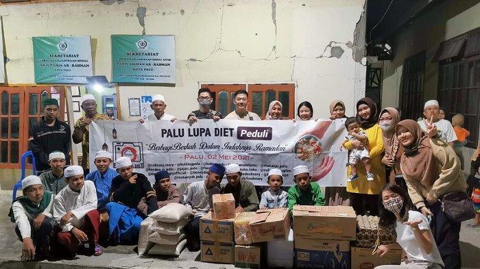 2 Panti Asuhan di Palu Dapat Bantuan Ramadan dari Komunitas Palu Lupa Diet