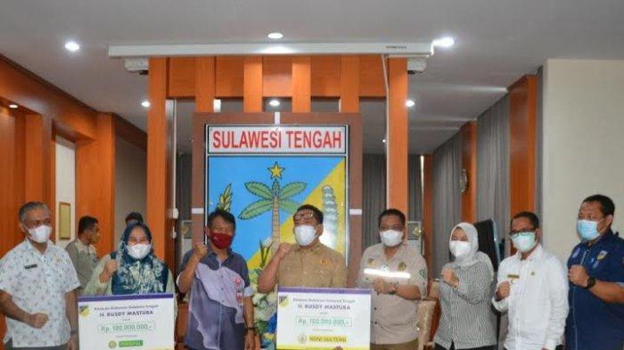 KONI Sulteng dan Persipal Keciprat Bantuan Rp 100 Juta dari Pemprov