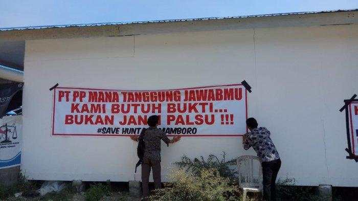 Belum Dibayar Lunas, Kontraktor Segel Huntara di Mamboro Palu