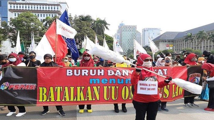 Hari Ini, Buruh Unjuk Rasa Tolak UU Cipta Kerja, Serentak di 24 Provinsi dan Berpusat di Istana-MK