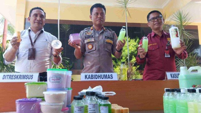 Polisi Amankan Ratusan Kosmetik Ilegal Siap Edar, Terduga Pengedar dan Peracik asal Palu Ditahan