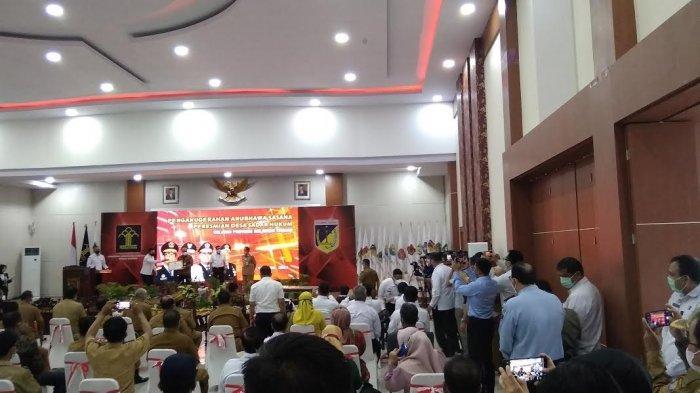 Kunjungan Kerja (Kunker) Menteri Hukum dan HAM Yasonna Laoly ke Sulawesi Tengah mendapatkan pengawalan ekstra ketat.