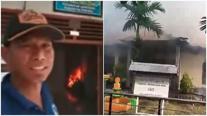 Kecewa dengan Pelayanan, Pria Asal Parigi Bakar Kantor Desa dan Tayangkan di Live Facebook