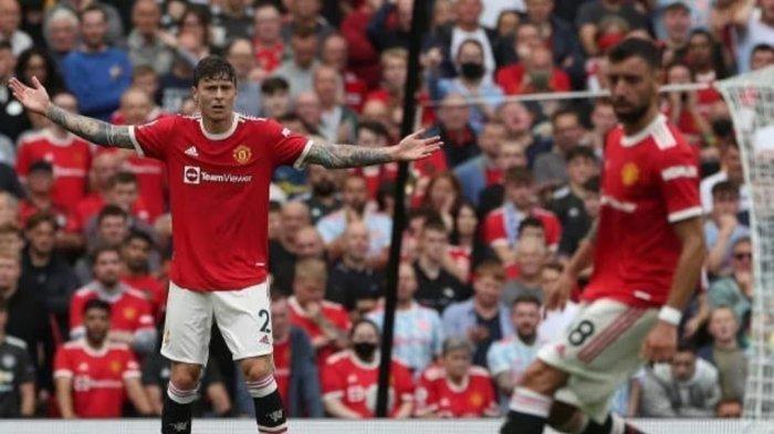 Victor Lindelof mengirim assist kepada Bruno Fernandes dalam laga perdana Liga Inggris 2021/2022, Sabtu (14/8/2021).