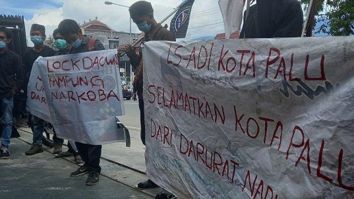 Palu Masuk 5 Besar Daerah Paling Rawan Peredaran Narkoba, LS-ADI Demo DPRD, BNN dan Polisi