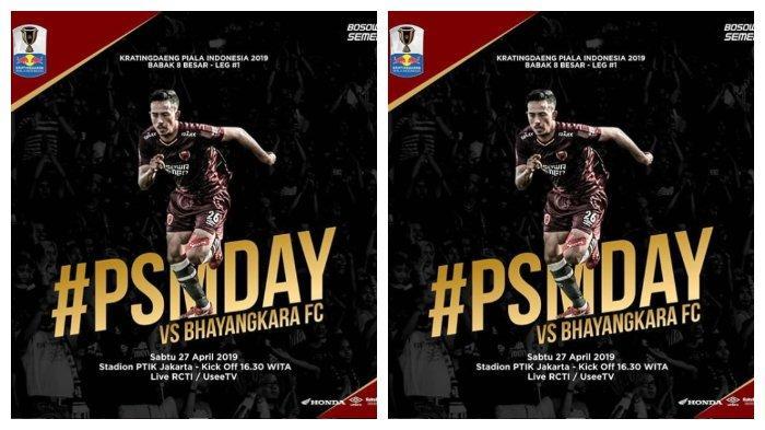 Link Live Streaming Babak 8 Besar Piala Indonesia Bhayangkara FC VS PSM Makassar, Sore Nanti!