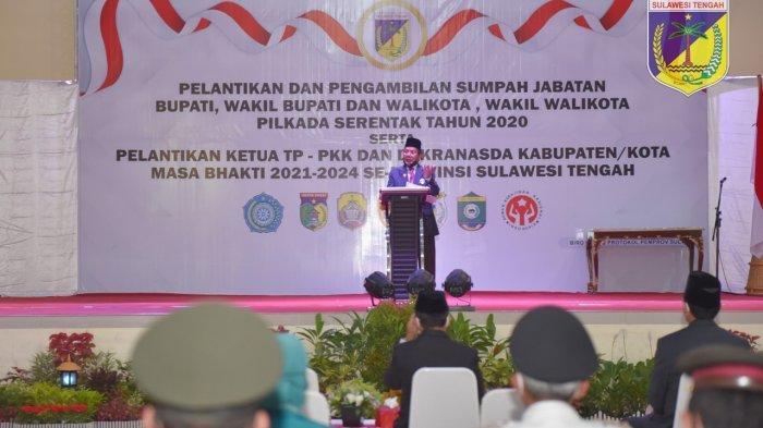 Ini Pesan Khusus Gubernur Sulteng untuk Wali Kota Palu dan Bupati Sigi yang Baru Dilantik