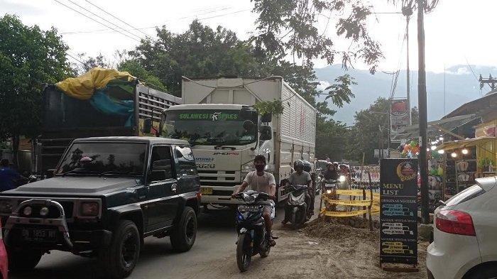 Ada Penggalian Drainase, Macet Sepanjang 1 Km di Jl I Gusti Ngurah Rai Palu