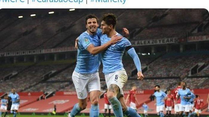 Hasil Piala Liga Inggris - Derby Lawan United, Manchester City Menang 2-0 dan melaju ke Final