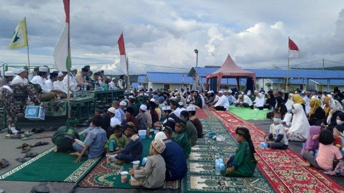 Majelis Dzikir Nurulkhairat dan Penyintas Gelar Doa Bersama di Huntap 1 Tondo Palu